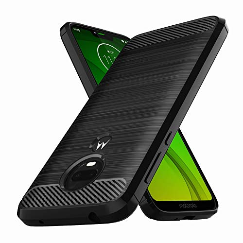 Moto G7 Power Case, Moto G7 Supra Case, E-outfit Slim Soft TPU Protective Rubber Bumper Case Cover for Motorola Moto G7 Power Phone (Black)