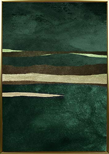 Mapa Mundi Cuadros decoracion salon, Pared, Comedor, hogar, casa, Pasillo, recibidor, habitacion, Dormitorio Cuadro Decorativo Moderno con Marco 50x70 cm Abstracto (Abstracto 2)