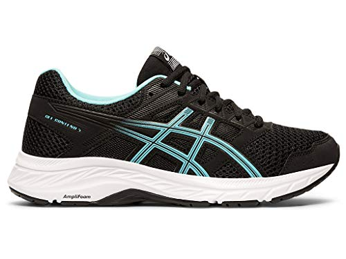 ASICS Women's Gel-Contend 5 Running Shoes, 7M, Black/ICE Mint ()