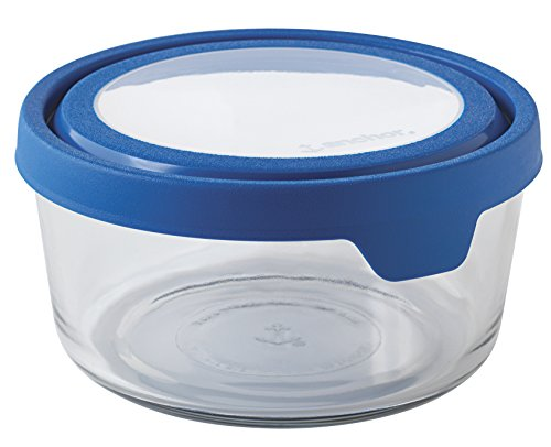 Anchor Hocking 7 Cup True Seal Round Food Storage Container, Blueberry