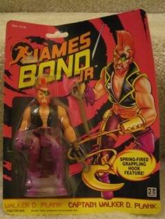 1991 JAMES BOND JR -CAPTAIN WALKER D. PLANK SPRING-FIRED GRAPPLING HOOK FEATURE CHANGE FIGURE ()