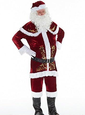 Shoperama - Costume da Babbo Natale, da uomo, 9 pz