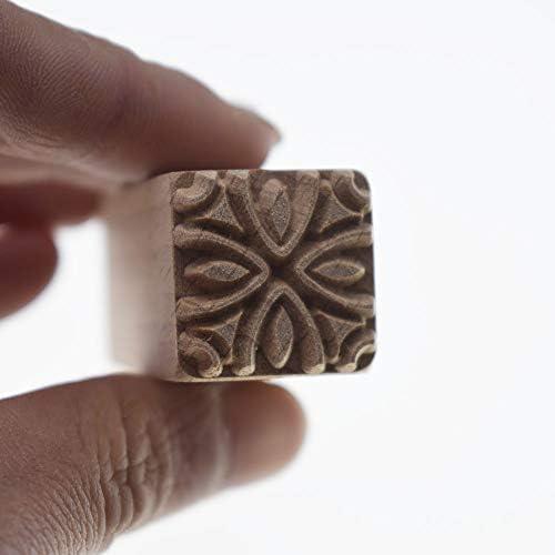 grastop リング パターン 手彫り ウッド スタンプ 印刷 DIYクレイ 陶器 印刷 ブロック クレイ ツール 用