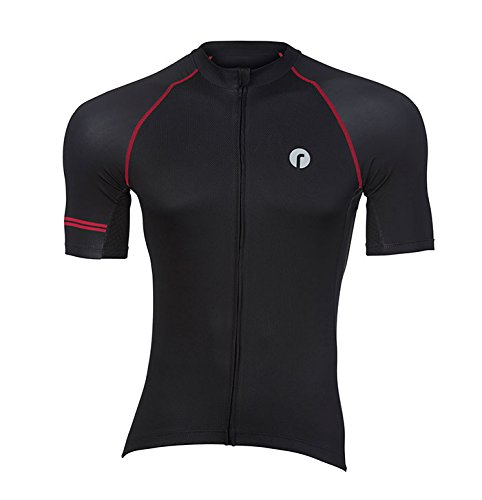 Ride Kleidung Tec schwarz Jersey rot groß