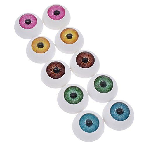 Viviseason(ビビシーズン) カラー目玉 動物 人形 アイ ぬいぐるみ目 さし目 おもちゃ プラスチック DIY縫製 クラフト 手芸パーツ 手作り 6色選択可能 8個入り或いは10個入り