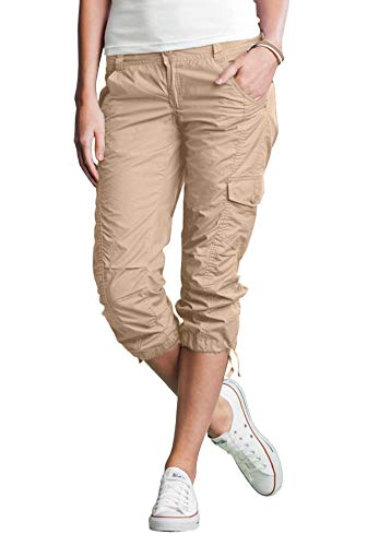(Ellos Women's Plus Size Cargo Capris - New Khaki,)