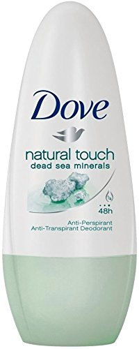Dove Antiperspirant Deodorant Roll-On, Natural Touch, 1.7 Oz / 50 Ml (Pack of 6)