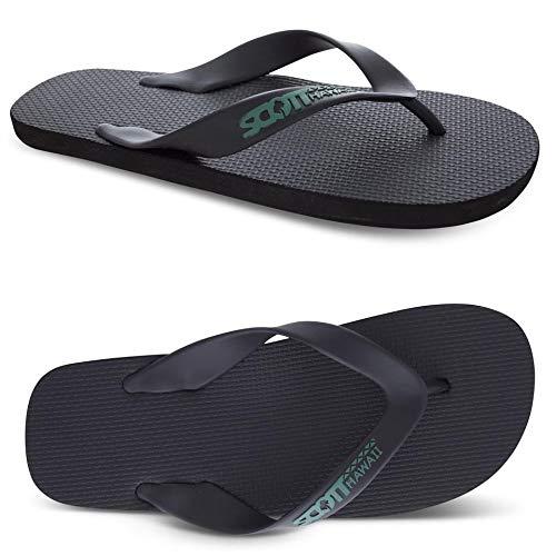 (Mens Size 10 Scotts Kumu Wide Flexible Black Rubber Sandal Sizes 7-14)