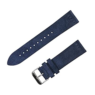 Benchmark Straps 18, 20 and 22mm Suede Watchband (Available in Multiple Colors) by Benchmark Basics