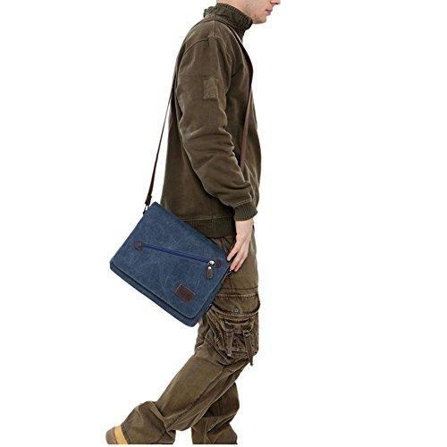 Bolso Canvas Messenger Blue Outdoor Informal AIYIL Cremallera Bolso Bandolera Hombre Office Travel Shoulder Grande Con Para Bags Satchel SwqIxdx1