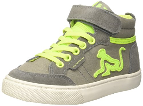 DrunknMunky Jungen Boston Vitaminix Hohe Sneaker Grigio (Graylime)