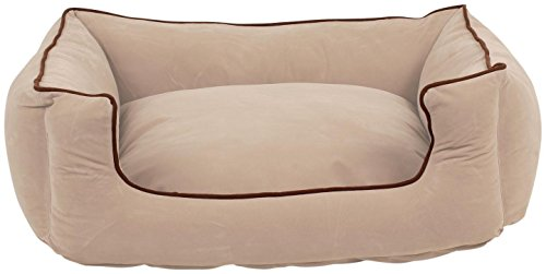 Carolina Pet Microfiber Kuddle Lounge Low Profile Bed for Pets, Small, (Velvet Microfiber Bolster Bed)