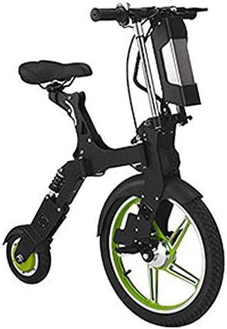 RXRENXIA Bicicleta Eléctrica, Portátil De Viaje Plegable De La ...