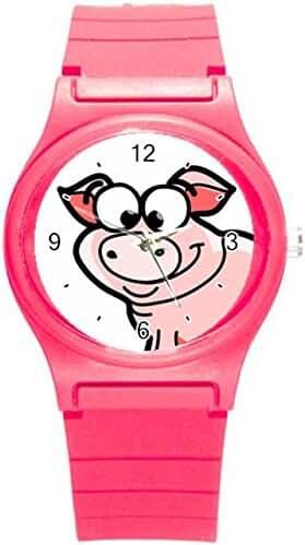 Kidozooo Boys Girls Cartoon Pig 1 3/8