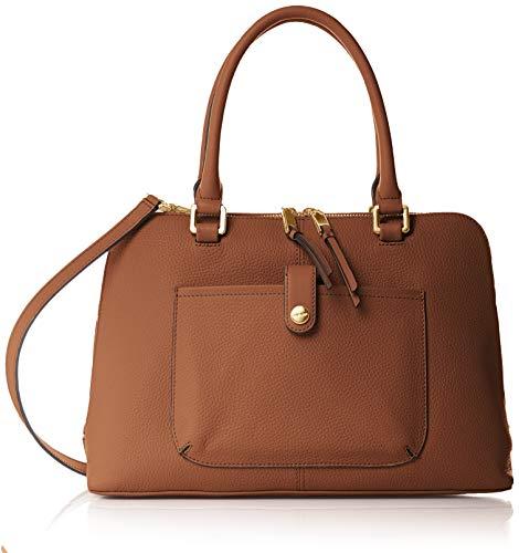 Calvin Klein Blanche Pebble Leather Dome Satchel
