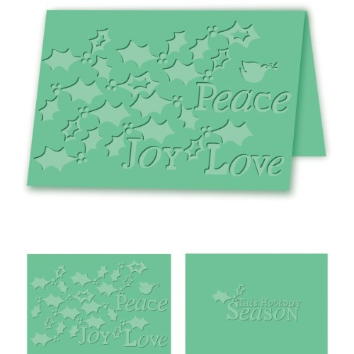 (Craftwell USA Holiday Holly Embossing Folder, 8.27 by 11.69-Inch )