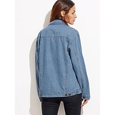 8207216d4c SheIn Women's Classic Long Sleeve Boyfriend Denim Jacket ...