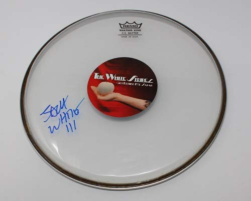 - The White Stripes Seven Nation Army Jack White Signed Autographed Drum Skin Drumhead Loa