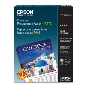 Epson America Inc. Products - Presentation Paper, Matte, 45 lb, 8-1/2