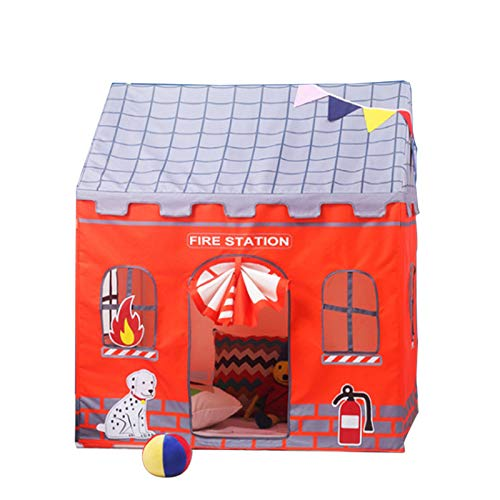 Revanak Kids Play Tent for Girls and Boys   Indoor and Outdoor Use Pop-Up Playhouse   Pretend Toy Play Tent Amazing Gift for Children (Fire ()
