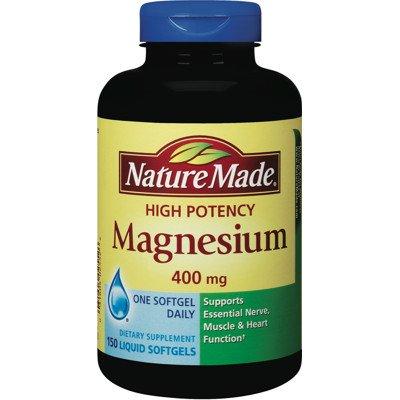 Nature Made magnésium Grande Puissance 400 mg - 150 gélules liquides