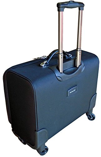 4 wheel laptop cabin hand luggage pilot case trolley business ...