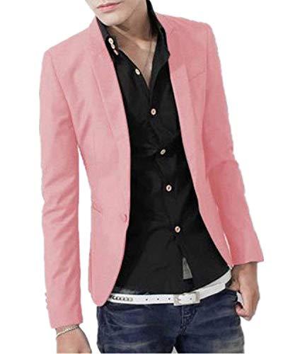 Hommes Fit Tuxedo Business Everyday Slim Et Mariage Costume Blazer Pink Retro RURxTw1