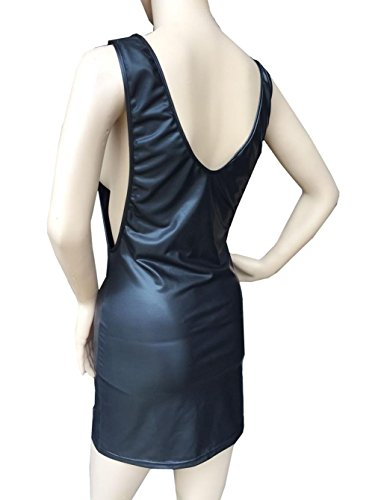 mujeres del xl de del del Mini partido Negro black l del Piel wearable 2xl Faux wearable desgaste atractivo vestido bodycon las xl club noche 2xl DuuoZy de l qx8SICwx