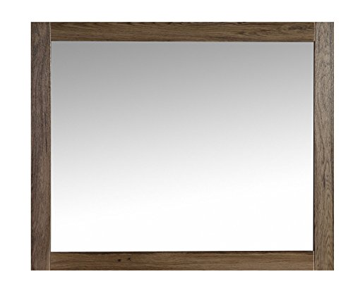 The Ivy Modern 36 Inch Wall Mounted Mirror by Flairwood Decor by Flairwood Decor