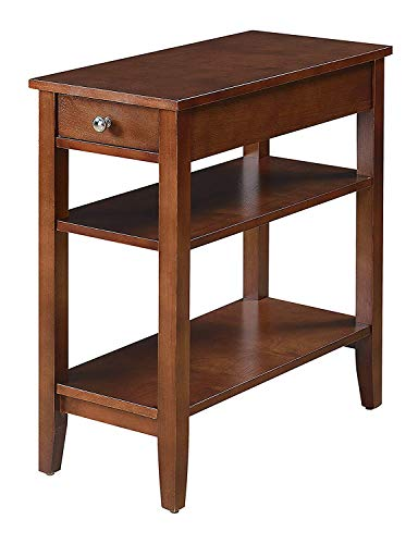 Convenience Concepts American Heritage Accent End Table, Mahogany (Accent Drawer Table Corner With)