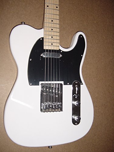 Huntington GE149 White TL Style Electric Guitar with Gig Bag (Guitar Tele Style)