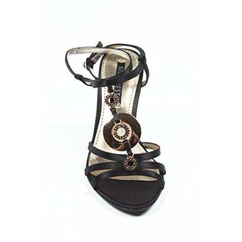 Nine West Boucle Cheville Sandales Compensées Femmes Nwjuvelie Black FFdrwq