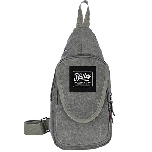 Its A Wonderful Life Baileys Brothers Building And Loans Association Traveling Chest Bags For Men&Women Multipurpose Casual Daypack Hiking Shoulder Bag (Building And Loan Its A Wonderful Life)