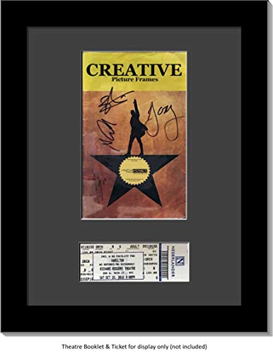 CreativePF [11x14bk-b] Black Theatre Frame with Black Matting, Holds 5.5x8.5-inch Media Plus Ticket Including Installed Wall Hanger (Theatre Bill Not Included)