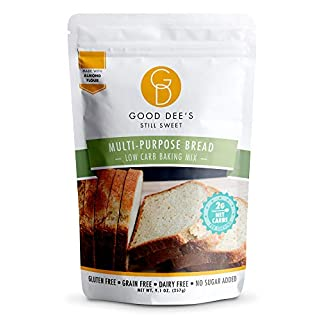 Good Dee's Multi Purpose Bread Mix – Low carb, Keto friendly, Sugar Free, Gluten free, Grain Free, Atkins friendly, Diabetic friendly, WW Friendly, 2g net carbs , 12 servings