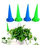 E-stone Plant Waterer Self Watering Devices, Vacation Potted Plant Watering Spikes Automatic Drip Irrigation Water Stakes System with Control Valve Plant Stakes Indoor & Outdoor (12packs)