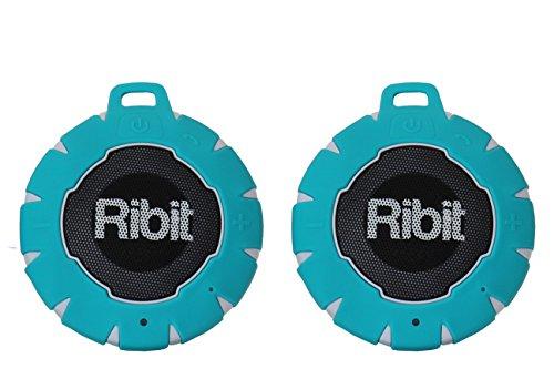 light blue waterproof bluetooth speakers