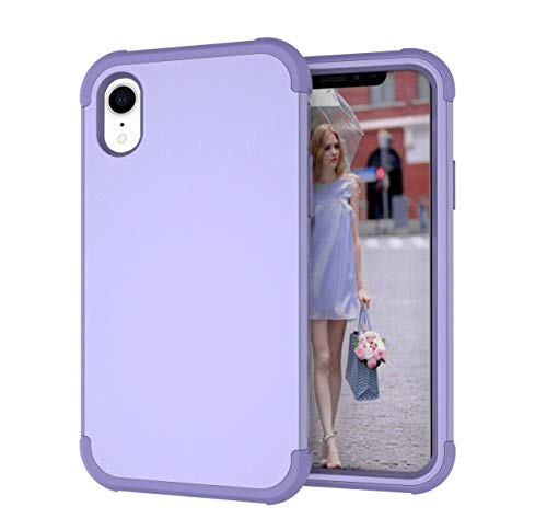 iPhone XR Case, Yoomer 3 in 1 Shockproof & Scratch-Resistant Hybrid Impact Armor Defender Cover Silicone Rubber Skin Hard Back Cover Combo Bumper Full Body Coverage Protection Case for iPhone XR 6.1