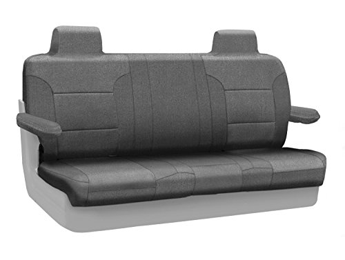 Coverking Custom Fit Rear Solid Bench Seat Cover for Select Lincoln Town Car Models - Velour (Gray) ()