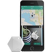 XY4+ Bluetooth Key Finder, localizzatore Chiavi Bluetooth, Localizzatore di oggetti, Tracker Bluetooth, Portafoglio Telefono (Bianco)