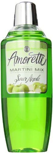 Amoretti Premium Martini Cocktail Mix, Sour Apple, 28 Ounce (Martini Apple Sour)
