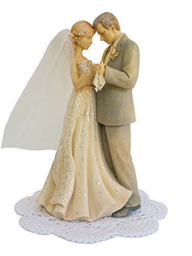 Foundations Wedding/Anniversary Figurine with Westbraid Doily (Father and Bride)