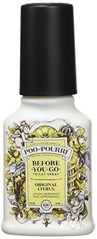 Poo-Pourri Before-You-Go Toilet Spray 2-Ounce Bottle, Original Citrus Scent - Butterfly Perfume Stopper Bottle