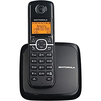 Motorola(r) L601m Dect 6.0 Single-Handset Cordless Phone System With Speakerphone & 3-Line Display