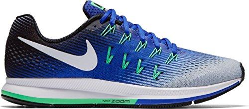 Nike Herren Lucht Zoom Pegasus 33 Laufschuhe Wolf Grijs / Wit-cool Grey-blac