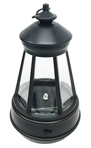 Ebros Plastic Solar Hanging LED Lantern Decorative Replacement For Garden Light Statues (Lantern Statue With Black)