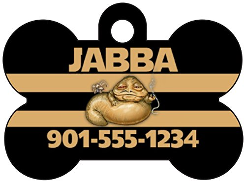 Disney Star Wars Jabba the Hutt Pet Id Dog Tag Personalized w/ Name & Number ()