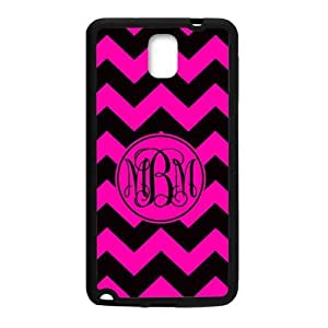 ALLCASE Monogram Commuter Black Pink on Pink Background Case for Samsung GALAXY S5 Black Cover Case