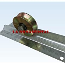 "3"" Single Bearing V Groove Wheel (NO BRACKET) for Gates Inverted V Track Wheel for sliding,Rolling,Slide, Driveway gates"