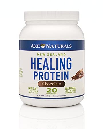 Axe Naturals, Healing Protein - Grass-Fed, Non-GMO, Chocolate Whey Protein Net Wt...